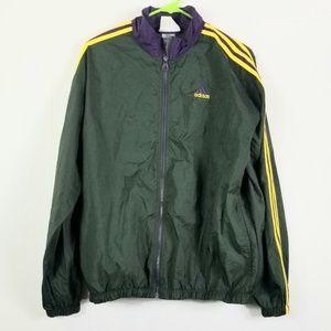Adidas jacket  green purple  and yellow  sz L